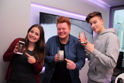 Sind ebenfalls im SWOP-Fiber: Die 89.0 RTL Morningshow-Crew um BigNick, Doro und Erik sowie Vormittagsmoderatorin Pia Pietsch. (Bild: ©Funkhaus Halle)