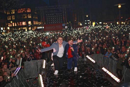 Andre Kuhnert und Tim Gafron (Bild: Radio Hamburg)