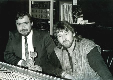 Gusty Hufschmid und Peter Maffay (Bild: Privatarchiv Hufschmid)