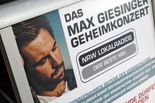 Geheimkonzert der NRW-Lokalradios mit Max Giesinger in Düsseldorf (Bild: ©radio NRW)