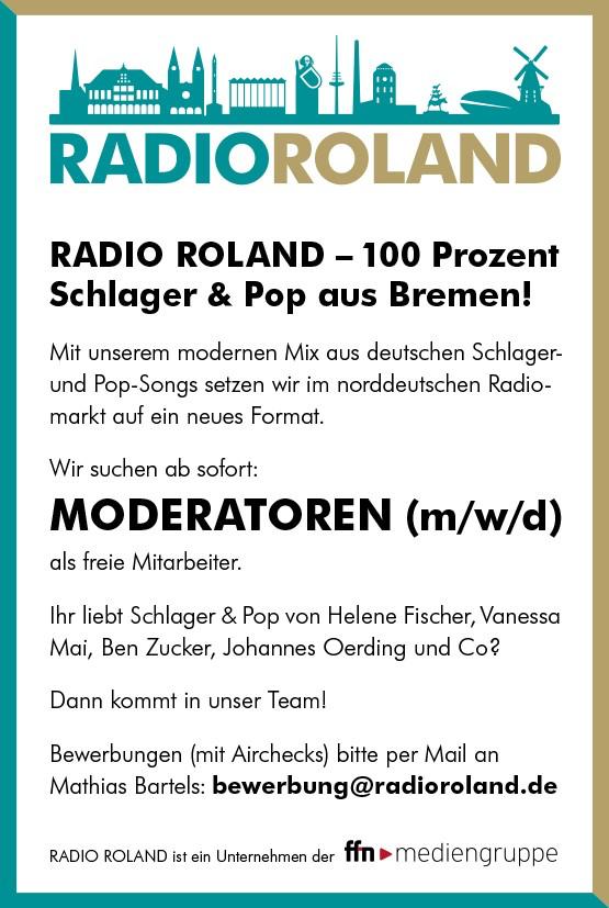 RADIO ROLAND sucht Moderatoren (m/w/d)