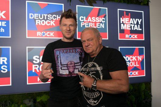 ROCK ANTENNE-Musikchef Tom Moser und Heavy-Metal-Gigant Udo_Dirkschneider