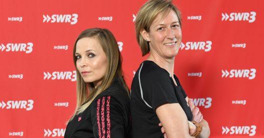 SWR 3 Fitness Duell Christine Froehler und Regina Halmich (Bild: ©SWR3 Stephanie Schweigert)