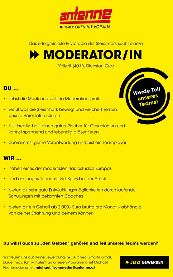 Antenne Steiermark sucht Moderator/in