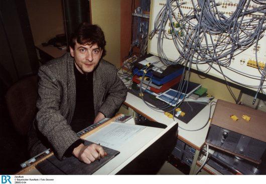 Karl Bruckmaier beim Zündfunk im Januar 1992. (Bild: ©BR/Foto Sessner)