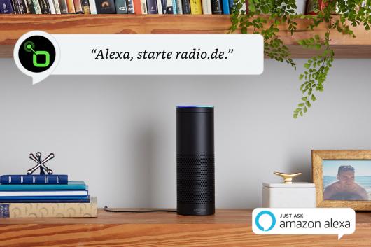 """""""Alexa, starte radio.de"""" (Bild: ©radio.de)"""