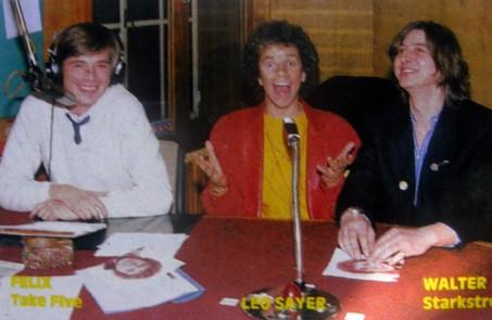 Ein Interview bei RTL Radio mit Kollege Felix Pabst , Leo Sayer und mir. (Foto: privat/hallo RTL-Club Magazin)
