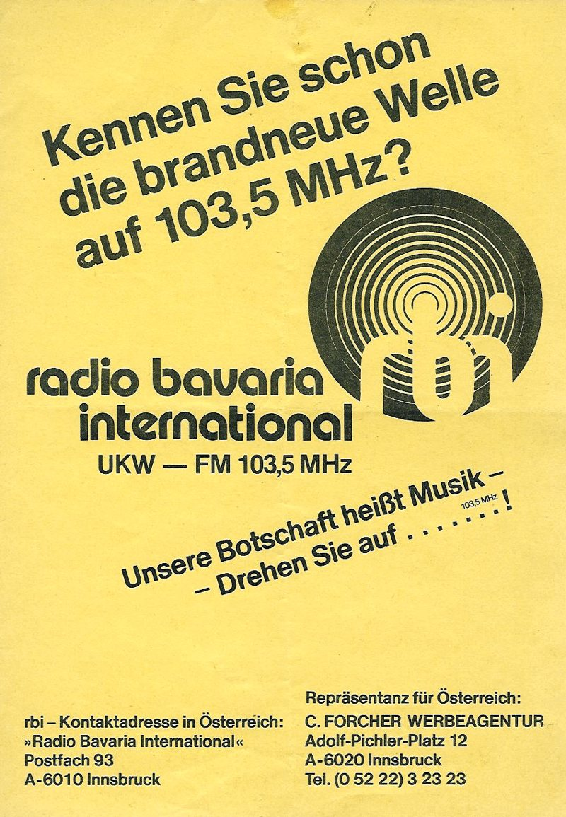 Wurfzettel RBI 1979