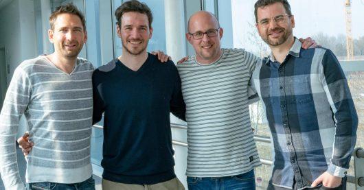 Leiter Produktion Stephan Schöpf, Felix Neureuther, Leiter Online-Redaktion und Sportchef Karsten Wellert und, Kreativdirektor Jan Zerbst fädelten die gemeinsame Sache ein