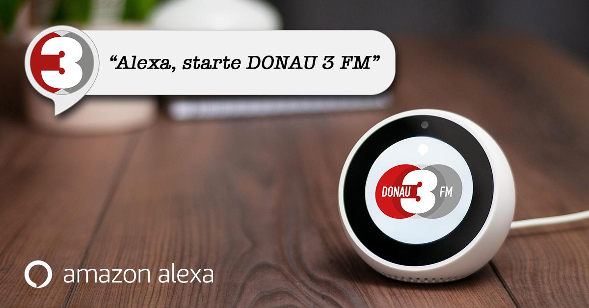 DONAU 3 FM: Eigener Alexa-Skill und Partnerschaft mit Telekom