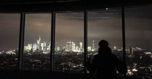 Blick aus den Antenne Frankfurt-Studios im Citygate-Tower Frankfurt (Bild: Antenne Frankfurt)