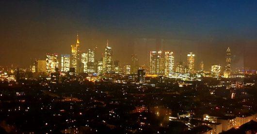 Blick aus aus den zukünftigen Antenne-Frankfurt-Studios im City Gate Tower Frankfurt