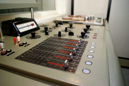 Blick in das ehemalige WDR Studio im Burker in Urft (Produktionsstandort für die Radiotage)