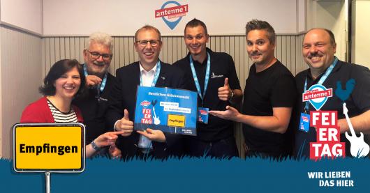 Hitradio antenne 1 Gewinner-Gemeinde Empfingen mit Nadja Gontermann