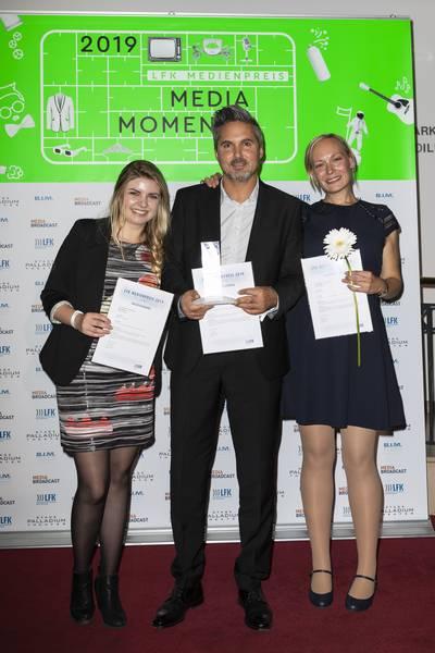 Preisträger Julia Hofmann, Oliver Ostermann  und Marie-Christine Duvernoy (Bild: antenne 1)