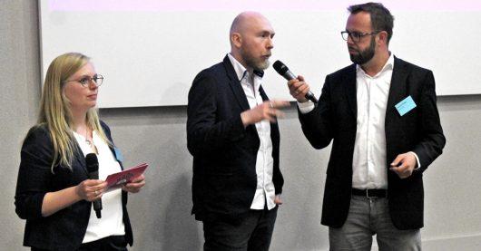 Colleen Sanders, Martin Klostermann und Thorsten Kabitz eröffnen Medientreff NRW 2019 (Bild: ©Philipp Kania)