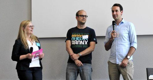 Colleen Sanders, Stanley Vitte und Timo Fratz beim Medientreff NRW 2019 (Bild: ©Philipp Kania)