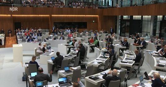 Screenshot der Abstimmung aus der Live-Übertragung des NDR
