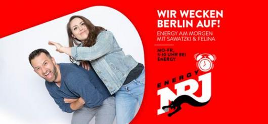 """""""ENERGY am Morgen mit Sawatzki und Felina"""" - ab heute ohne Gregor"""