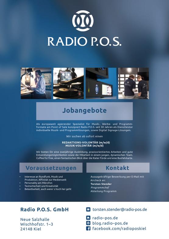 RADIO P.O.S. sucht Redaktions-Volontär (m/w/d) und Musik-Volontär (m/w/d)