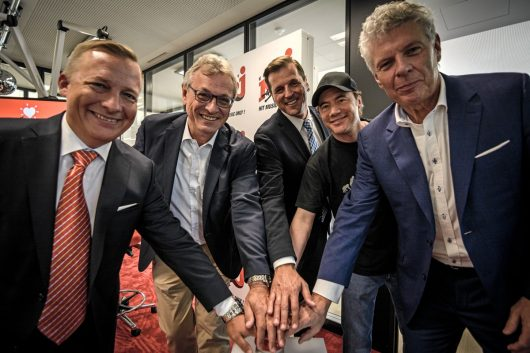 Michael Hambrock, Siegfried Schneider, Olaf Hopp, Michael Bully Herbig, Dieter Reiter (Bild: ©ENERGY)