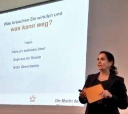 Yvonne Malak: Was brauchen wir wirklich und was kann weg? (Bild: ©Ulrich Köring)