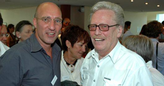 Christoph Lemmer und Jochen Pützenbacher während der 50 Jahre RTL-Feier am 15. Juli 2007 im Luxemburg (Bild: ©Ulrich Köring/RADIOSZENE)