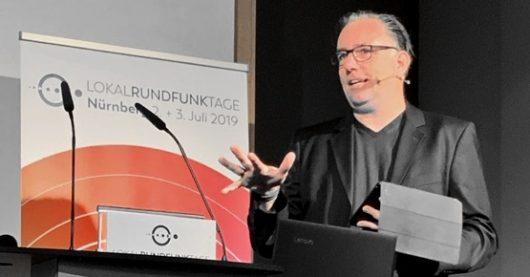 Martin Liss auf den Lokalrundfunktagen 2019 (Bild: ©Ulrich Köring)