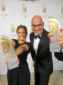 Die besten Radiomoderatoren Deutschlands: Carmen Schmalfeldt von Radio Leverkusen und Steffen Lukas von RADIO PSR. (Bild: ©NDR/Morris Mac Matzen)