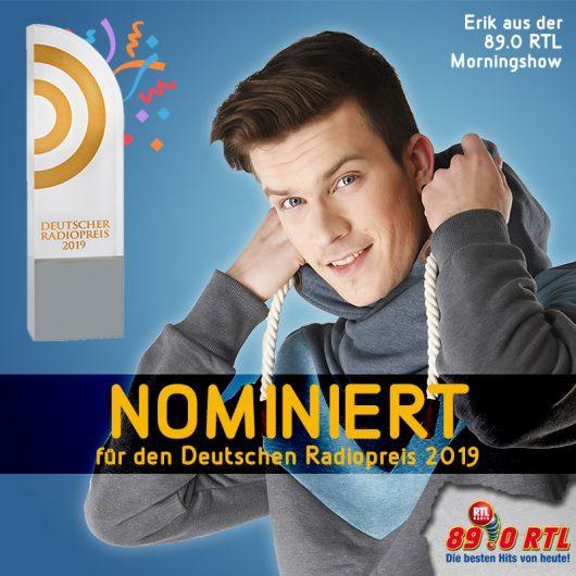 89.0 RTL Moderator Erik Aland für den Radiopreis nominiert