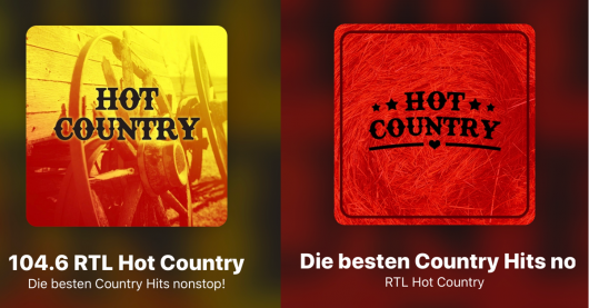 Hot Country-Logos
