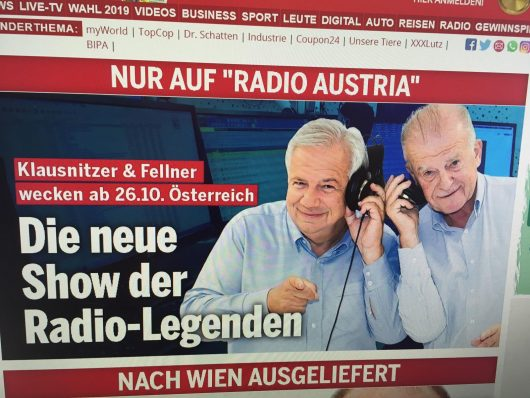 Screenshot Radio Austria