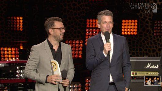 """Vivian Pickelmann und Marc Haberland:""""SWOP"""" von 104.6 RTL (Bild: ©Deutscher Radiopreis)"""