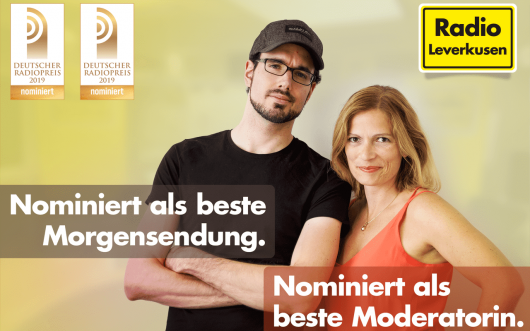 Radio Leverkusen zwei Mal für Deutschen Radiopreis nominiert