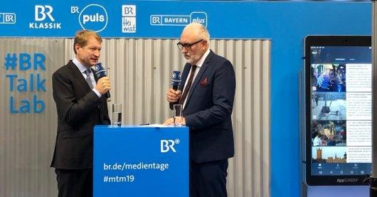 Ulrich Wilhelm (links) im Gespräch mit Andreas Bönte (Bild: ©BR Bayerischer Rundfunk)