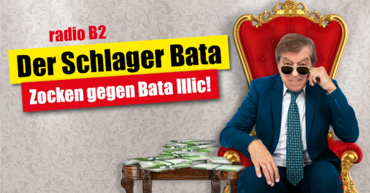 Schlagerlegende Bata Illic zockt gegen radio B2-Hörer (Bild: ©radioB2)