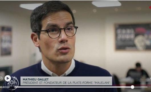 Mathieu Gallet mit seiner Plattform Majelan: 75% aller Hörer wären bereit zu zahlen. (Screenshot: France 2)