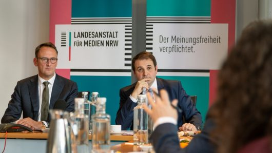 """Pressegespräch am 29.12.2019 zu """"Radio 2022"""" (Bild: Land NRW)"""