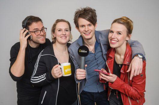 Die Vier am Morgen: Malte Döbert, Laura Knepper, Keno Bergholz und Marilena Dahlmann (Bild: ©Radio Bremen/M. Hornung)