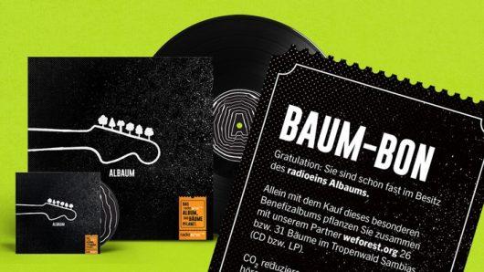 """""""Albaum"""" von radioeins: das erste Album, das Bäume pflanzt (Bild: © rbb/radioeins)"""