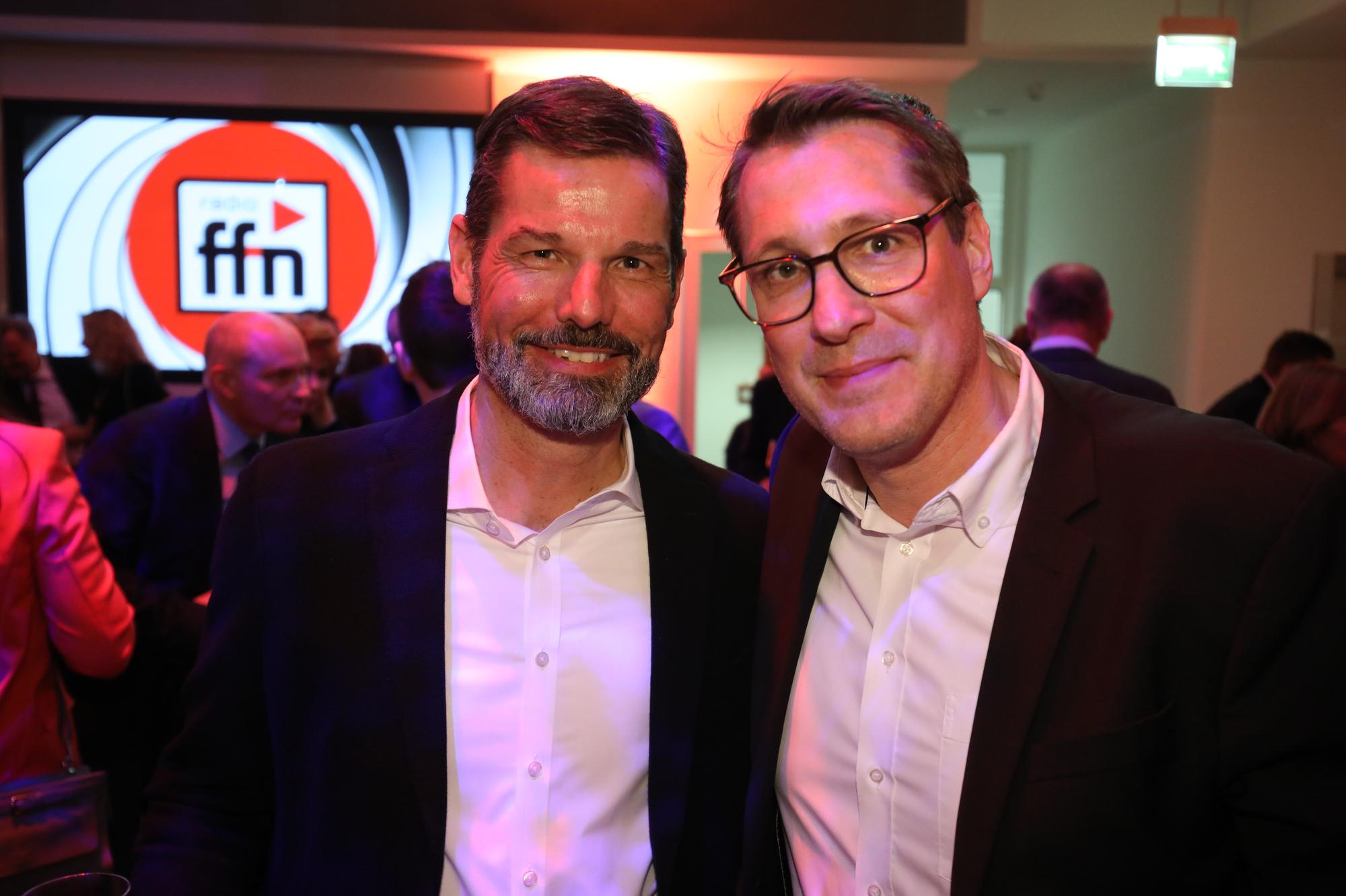 Oliver Adrian, AS&S Radio Geschäftsführer; Ralf Gessner, AS&S Leitung Radio-Marketing (Bild: ©ARP/SCHEFFE)