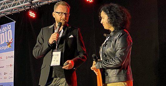Yvonne Malak und Torsten Birenheide auf der European Radio Show in paris (Bild: ©Christopher Deppe)