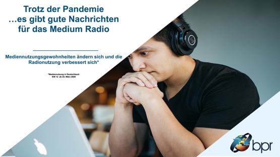 Trotz der Corona-Pandemie: Gute Nachrichten für das Medium Radio