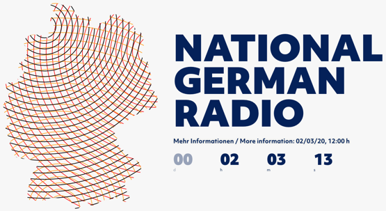 National German Radio startet heute um 12 Uhr