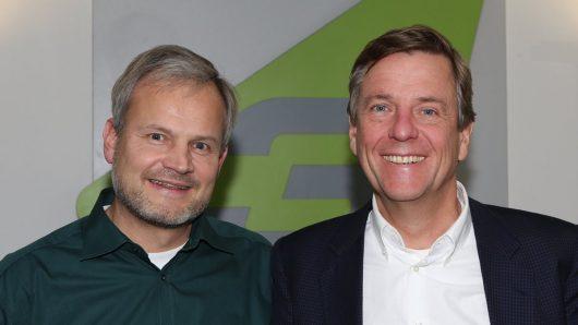 Ulli Wenger und Claus Kleber bei SWF3 (Bild: ©BR/Markus Konvalin)