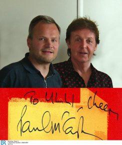 Ulli Wenger und Paul McCartney in Köln 2005 (Bild: privat)
