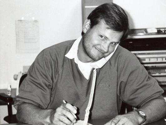 Ulli Wenger beim SWF 1991 in Baden-Baden (Bild: BR/privat)
