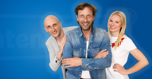 Antenne MV-Morgenshow mit Torte Edda und Wetter-Werner(BIld: Antenne MV)