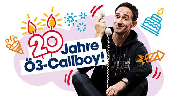 Hitradio Ö3 feiert 20 Jahre Ö3-Callboy