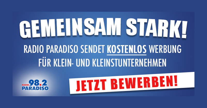 Zeichen der Solidarität: Kostenlose Werbung auf Radio Paradiso